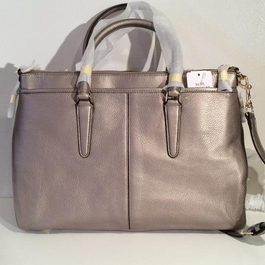 Coach New With Tags Satchel in Light Gold Metallic Image 4