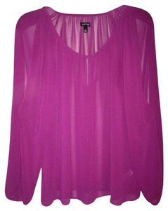 Apt. 9 Flowy Greek Grecian Top Fuschia