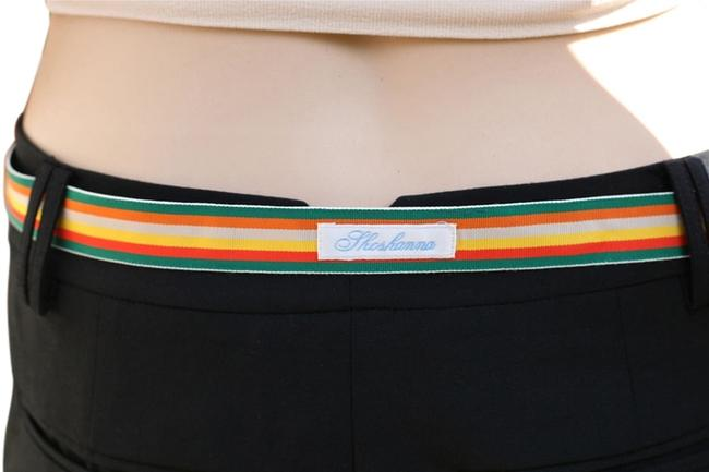 Item - Rainbow Stripe Silk Grosgrain Skinny Belt