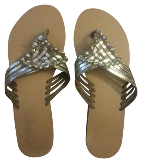 Urban Outfitters Metallic Sandals