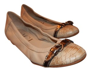 Attilio Giusti Leombruni Agl Leather Tan Flats