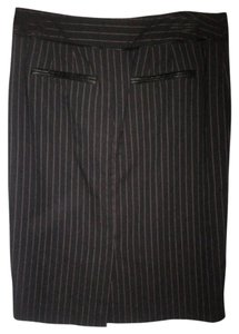 Dana Buchman Pinstriped Pencil Skirt Black