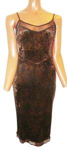 Betsey Johnson Date Cocktail Sexy Stretchy Animal Cheetah Stretch Dress