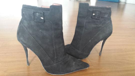 Elizabeth and James Ankle Suede Black Boots
