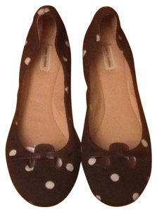 Marc Jacobs Dark Brown And White Flats