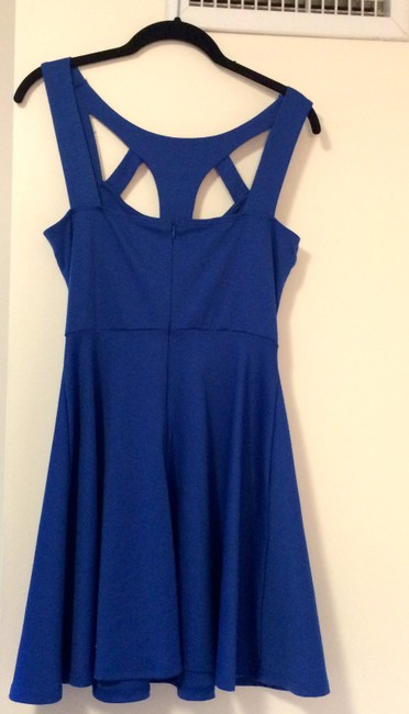 Lush short dress Cobalt Blue Cut Out on Tradesy