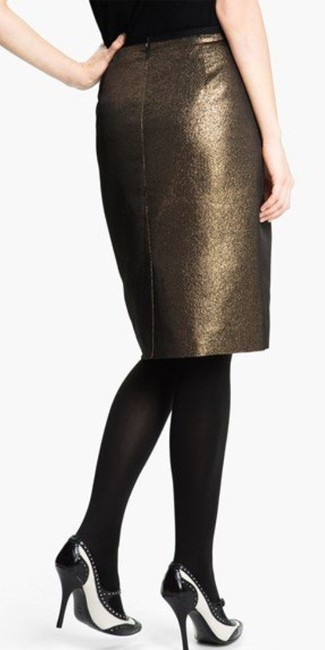 Tory Burch Skirt Copper/Black Metallic