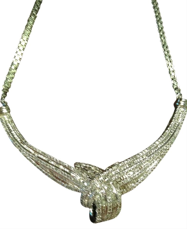 1k TW Diamond Accent Rhodium Over Brass Necklace