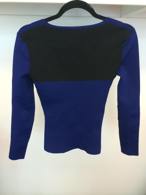 Roland Mouret Structured Color Top Blue, black, white and green