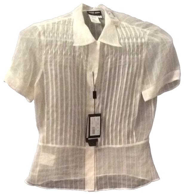 Preload https://item1.tradesy.com/images/giorgio-armani-ivory-blouse-size-4-s-1361570-0-0.jpg?width=400&height=650