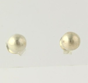 Bead Work Earrings - Sterling Silver 925 Womens Stud Pierced 4.8mm