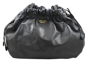 Prada Leather Slouchy Shoulder Bag