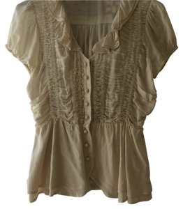 Anthropologie Top Cream