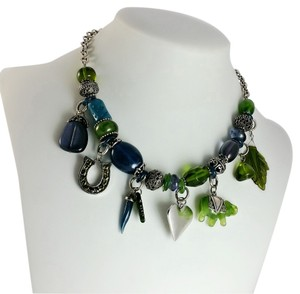 Other Vintage Charm Green Bead Chunky Statement Necklace