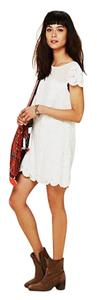 Free People short dress White Lace Bow Spring on Tradesy