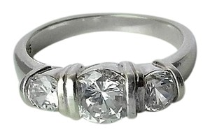 Premier Designs Sterling Silver & White Cubic Zirconia Cluster Ring - Size 8.5