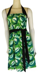 Anthropologie short dress Green Viola Sundress Belt Smocking on Tradesy
