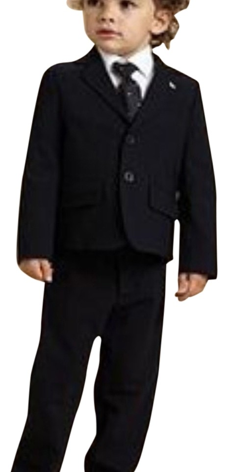 Armani Junior Navy Blue Boys Two Piece In Pant Suit Size 6 (S ...