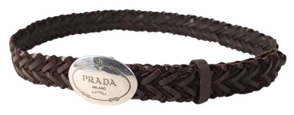6c7e7fdf9d97b Prada Brown * Woven Leather - Size 90cm/ 36 Inches Belt 36% off retail