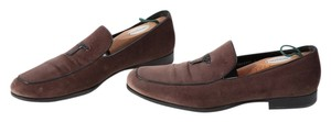 Salvatore Ferragamo Boutique Suede Brown Flats