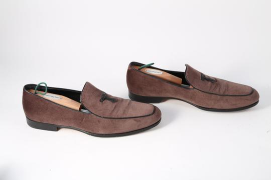 Salvatore Ferragamo Boutique Suede Brown Flats Image 2