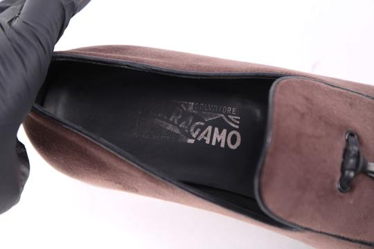 Salvatore Ferragamo Boutique Suede Brown Flats Image 6