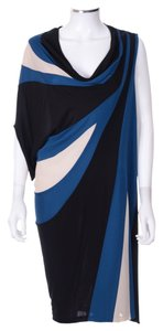 Jean-Paul Gaultier short dress Royal blue and Black Jpg Geometric Jeanpaulgauthier Summer on Tradesy