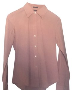 Theory Button Down Shirt Toupe/Light pink