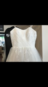 Mori Lee Ivory/ Champagne Tull 1959 Modest Wedding Dress Size 14 (L)