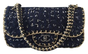 Chanel Tweed Quilted Flap Shoulder Bag