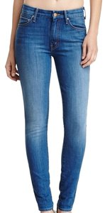 Mother Highwaist Denium Skinny Jeans-Medium Wash