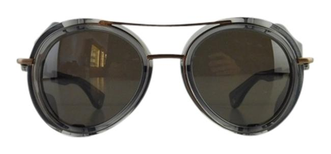 Item - Gray Brown Lunettes Mc 511s06n Leather Aviator 48mm Sunglasses