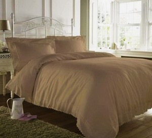 ELIZABETH JAYNE Luxury Quality ELIZABETH JAYNE Embellished Duvet Bedding Set Double from UK - CAPPUCINO