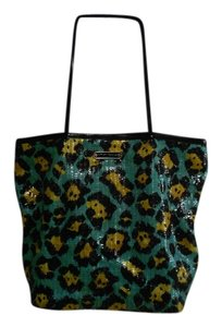 Betsey Johnson Tote in Black/Green/Yellow