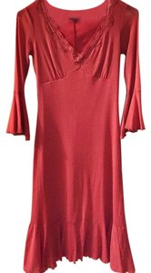 Betsey Johnson Lace Trim Night Out Sexy V-neck Exclusive Dress