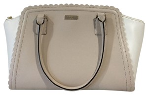 Kate Spade Satchel in Cream And Taupe