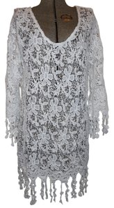 Méchant Tunic Cover Up Beach Fringed Dress