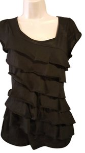 Maurices Ruffle Top Black