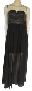 Betsey Johnson Edgy Chiffon Pleather Dress