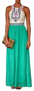 Green Multi Maxi Dress by