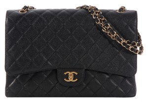 Chanel Maxi Caviar Classic Flap Shoulder Bag