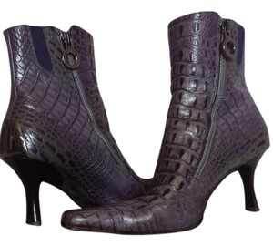 Donald J. Pliner Leather Crocodile Purple Croc Boots