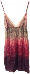 Anthropologie short dress Pink, Purple, Green Multi-clored Sheer on Tradesy