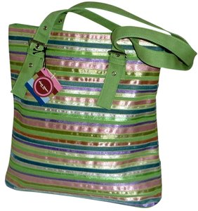 Elissa Bloom Colorful Stripes Shoulder Bag