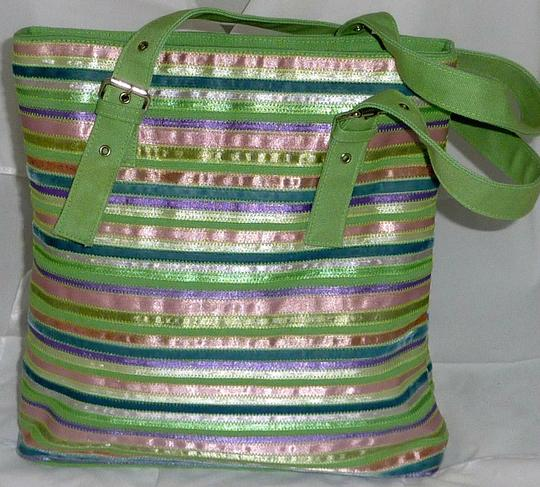 Elissa Bloom Colorful Stripes Tablets Electronic Shoulder Bag
