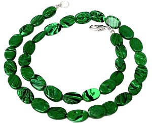 Other NEW Green Malachite Sterling Silver Beaded Necklace