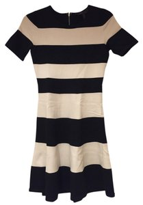 BCBGMAXAZRIA short dress Black and White Bcbg Max Azria Stripes Sweater on Tradesy