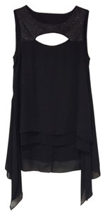 BCBGMAXAZRIA Sequence Top BLACK