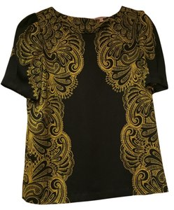 Juicy Couture Boho Top Black and Yellow