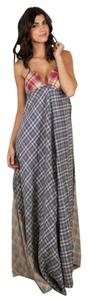 Plaid Multi Maxi Dress by Free People Plaid Patchwork Vintage Boho Bohemian